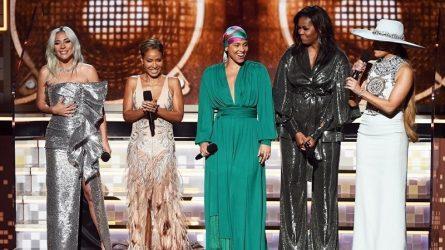 Đệ nhất phu nhân Michelle Obama bất ngờ xuất hiện tại Grammy 2019, lên tiếng ủng hộ nữ quyền