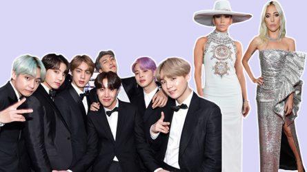 Ban nhạc BTS bảnh bao trên thảm đỏ Grammy cùng Lady Gaga và các ngôi sao quốc tế