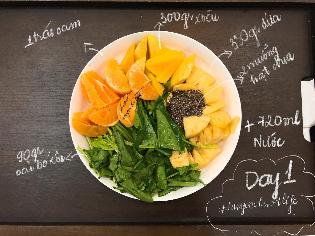01 thử thách 12 ngày detox giảm cân nhanh từ 4 đến 7 kg