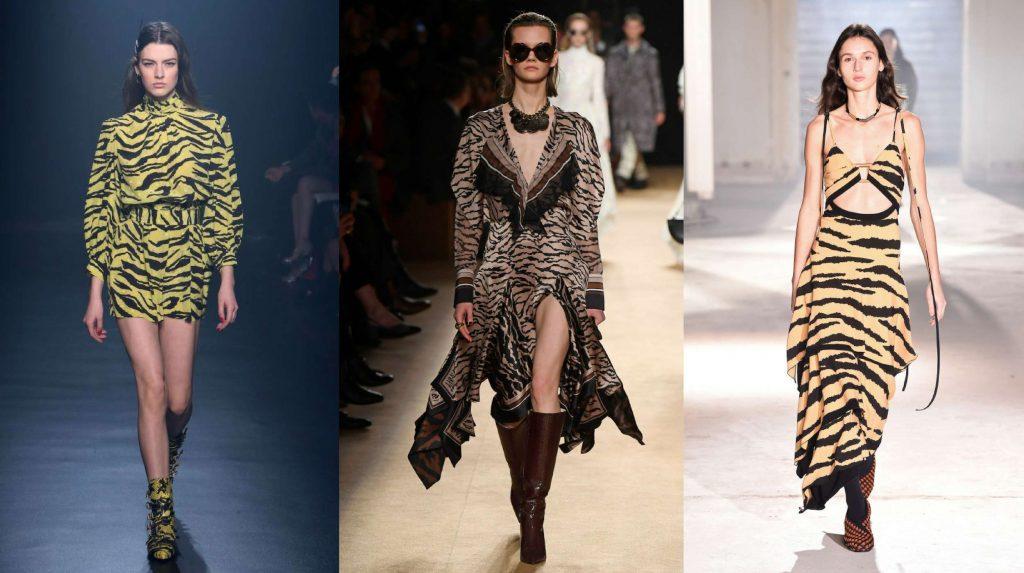 xu hướng thời trang váy họa tiết da hổ