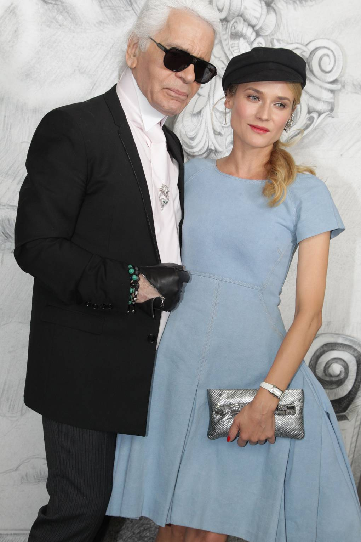 Karl Lagerfeld và Diane Kruger.