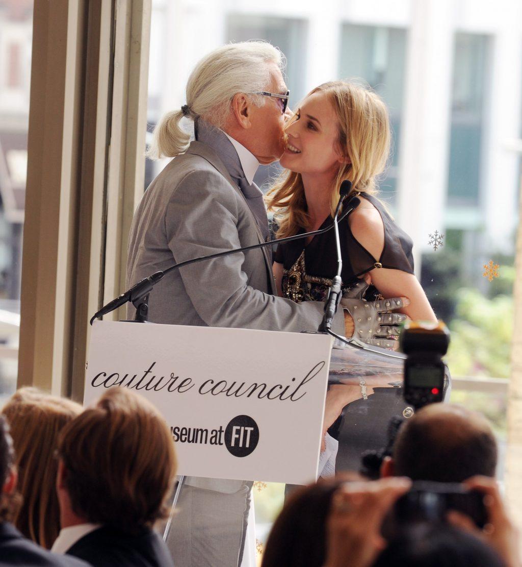 Ông hoàng tóc trắng Karl Lagerfeld và Diane Kruger