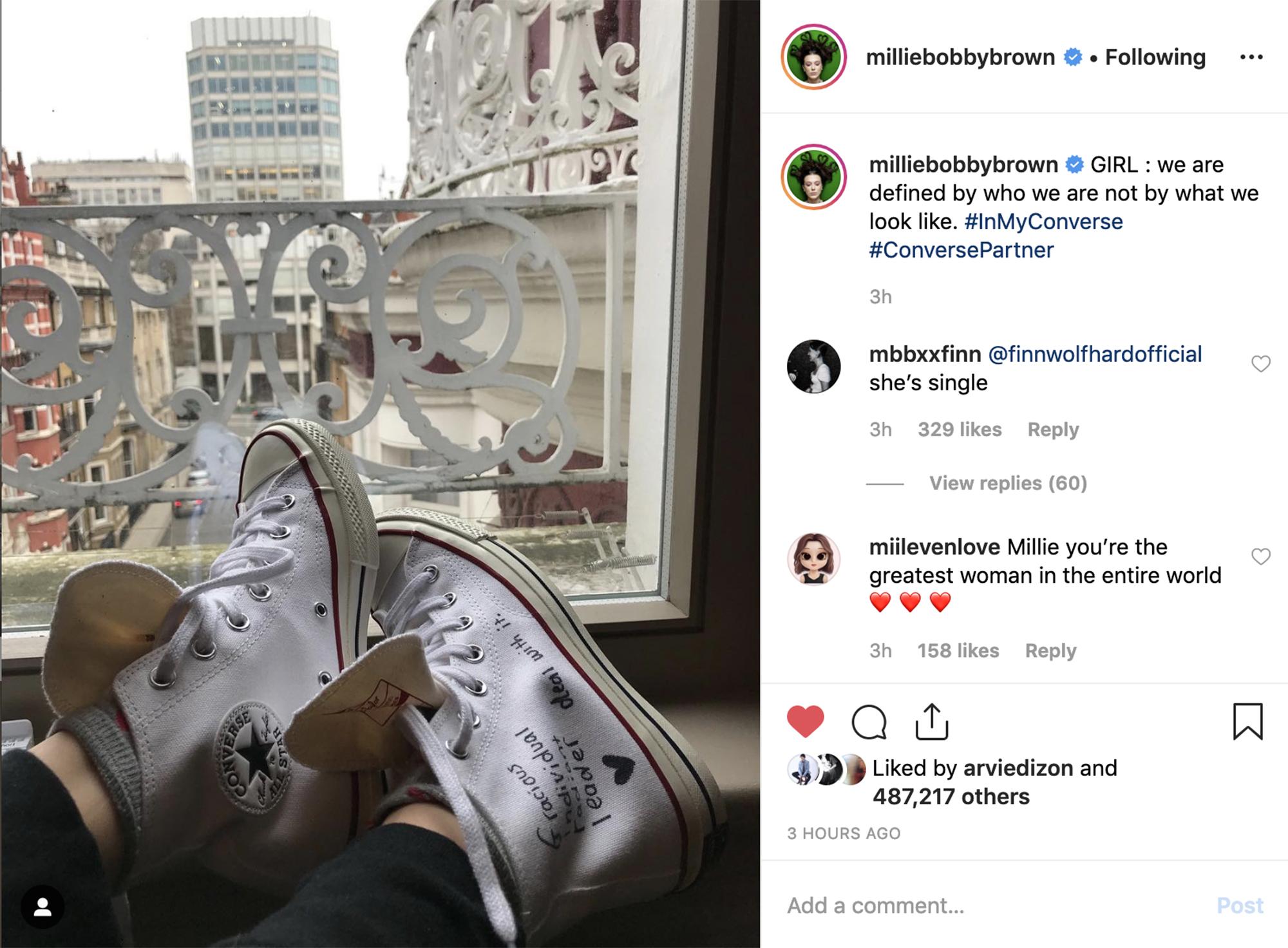 Millie Bobby Brown cùng Converse ủng hộ nữ quyền 2