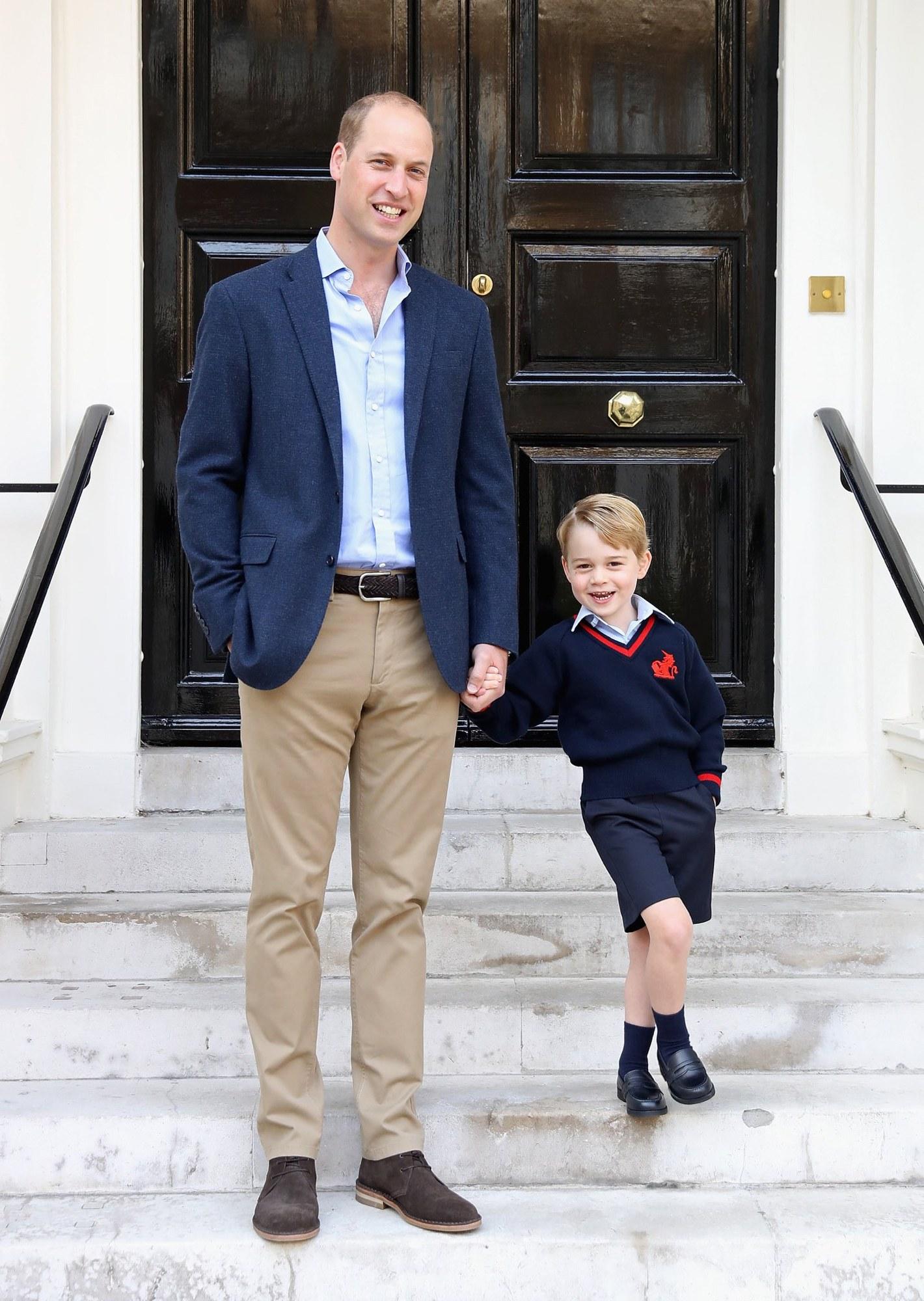 phong cách thời trang hoàng tử george và hoàng tử William