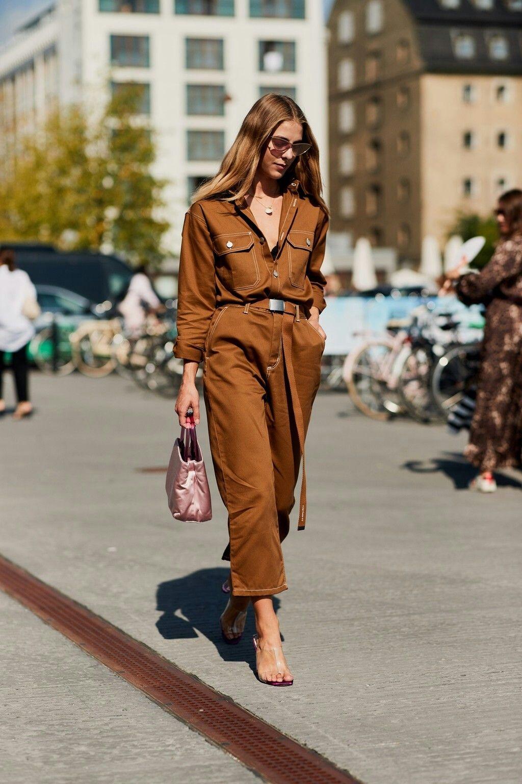 jumpsuit nâu thời trang công sở