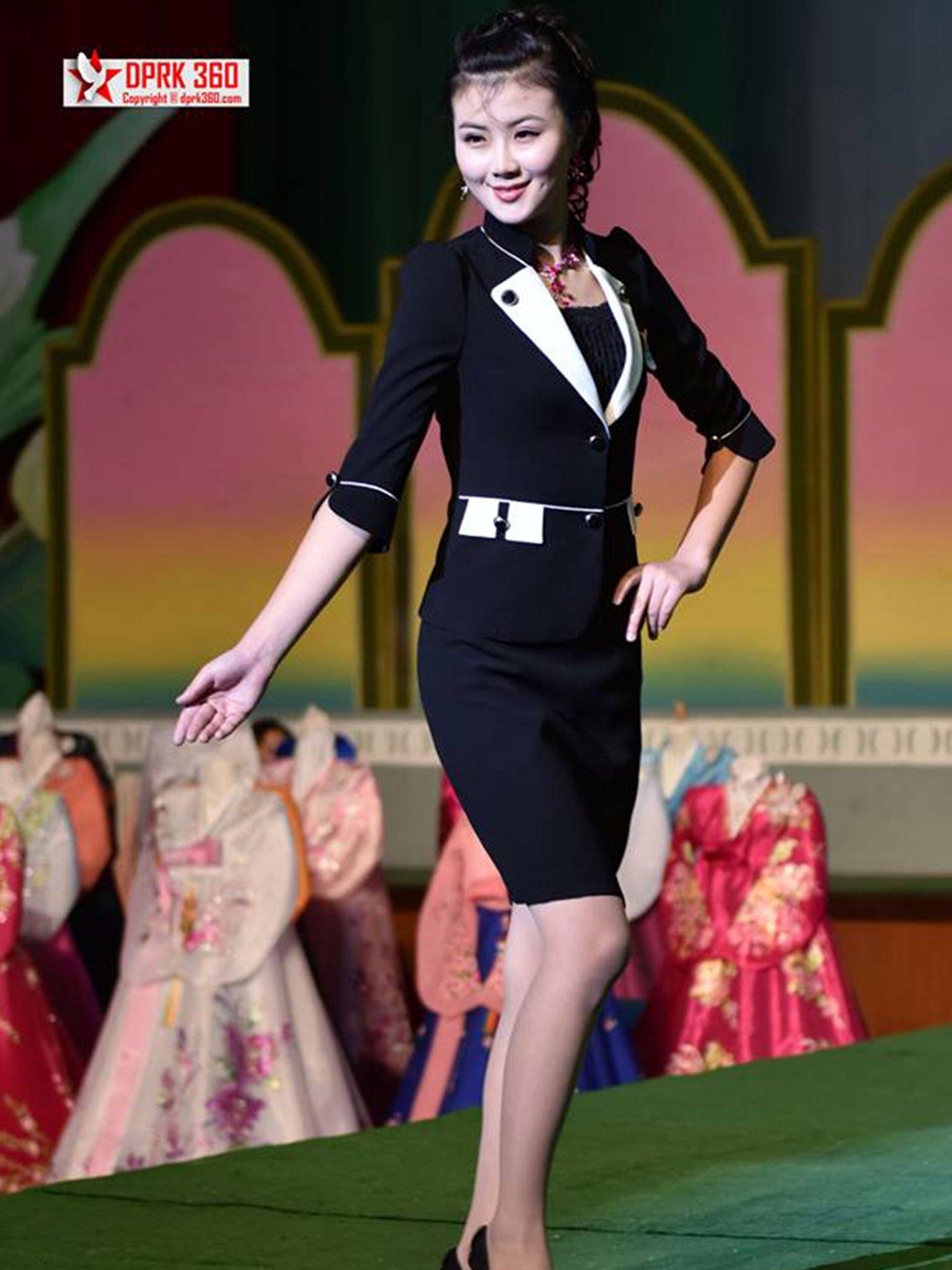 buổi trình diễn thời trang của phụ nữ Triều Tiên 1