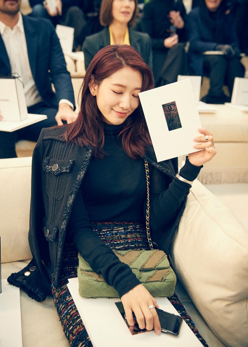 phong cách thời trang tại tuần lễ thời trang Park shin hye 5