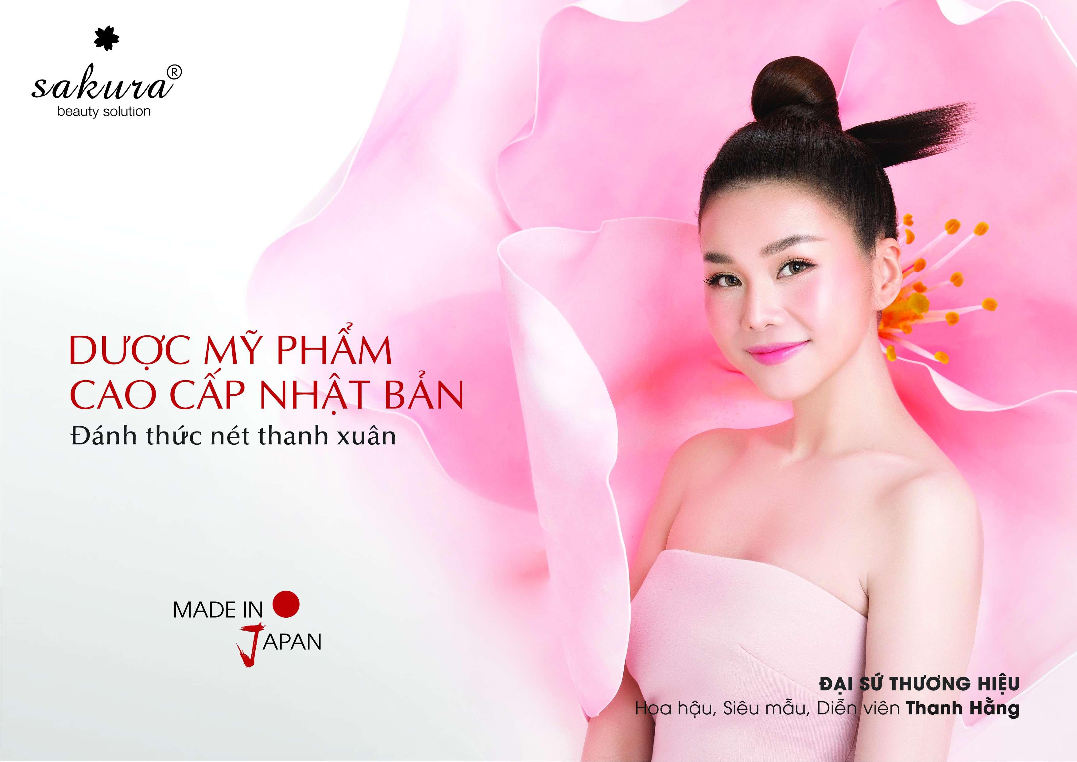 siêu mẫu Thanh Hằng trở thành đại diện thương hiệu Sakura 3