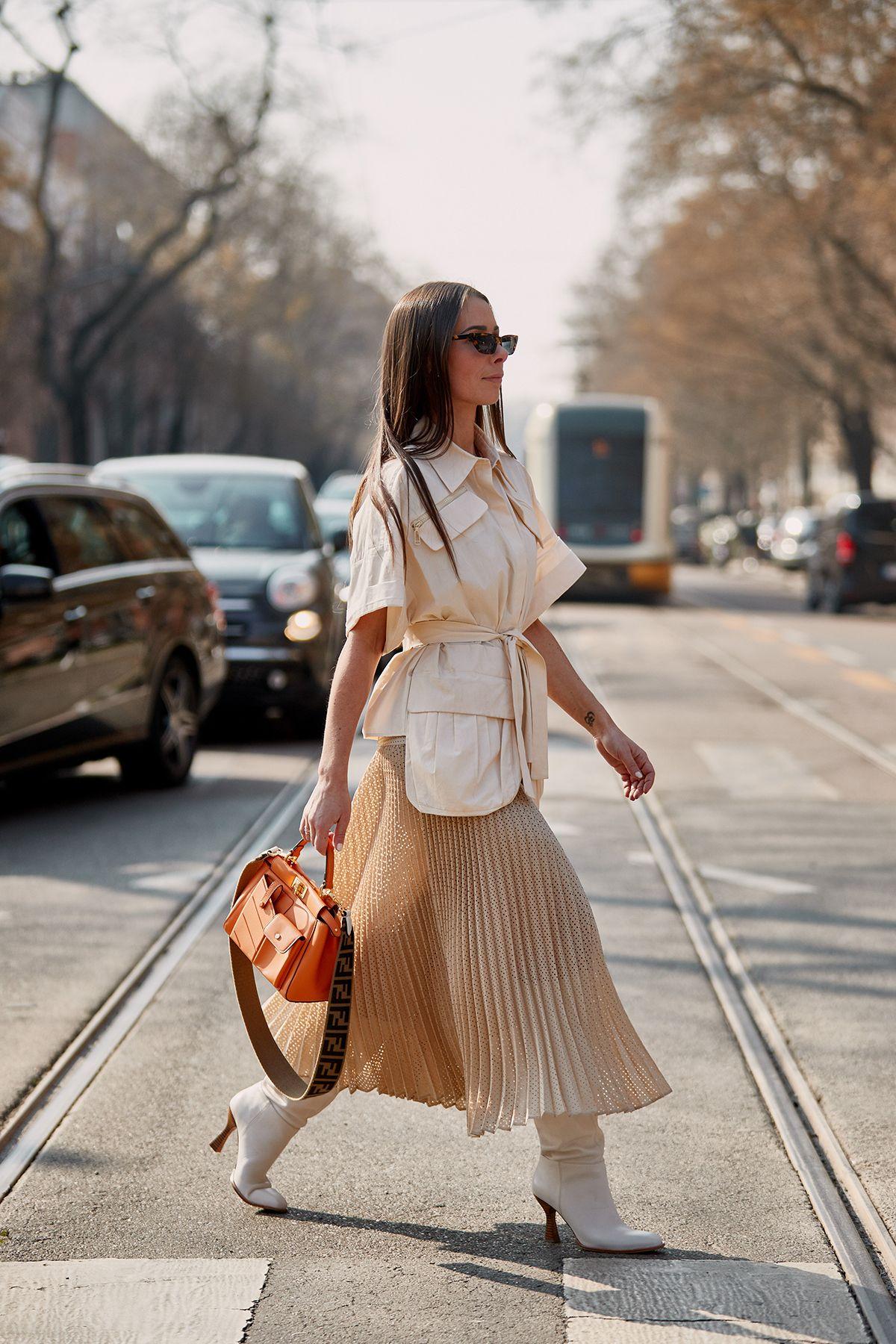phong cách thời trang với màu beige 41