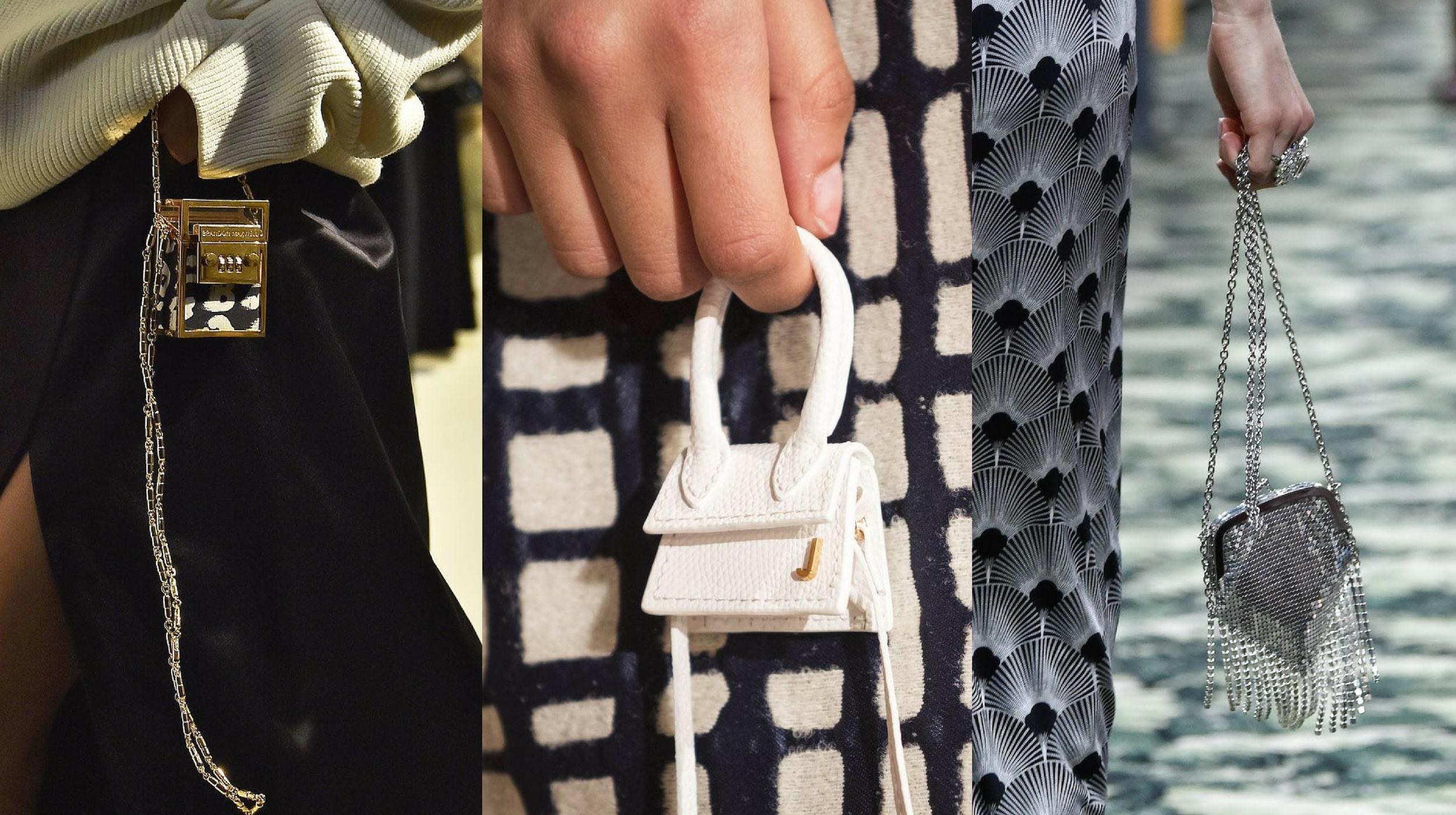Bắt kịp xu hướng thời trang túi xách siêu nhỏ cùng dàn fashionista thế giới