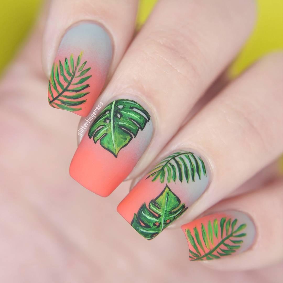 Những ý tưởng nail đẹp màu xanh mát mắt lấy cảm hứng từ trào lưu #trashtag  đang thịnh hành | ELLE