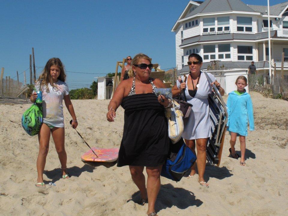 Một gia đình tại bãi biển Point Pleasant, New Jersey