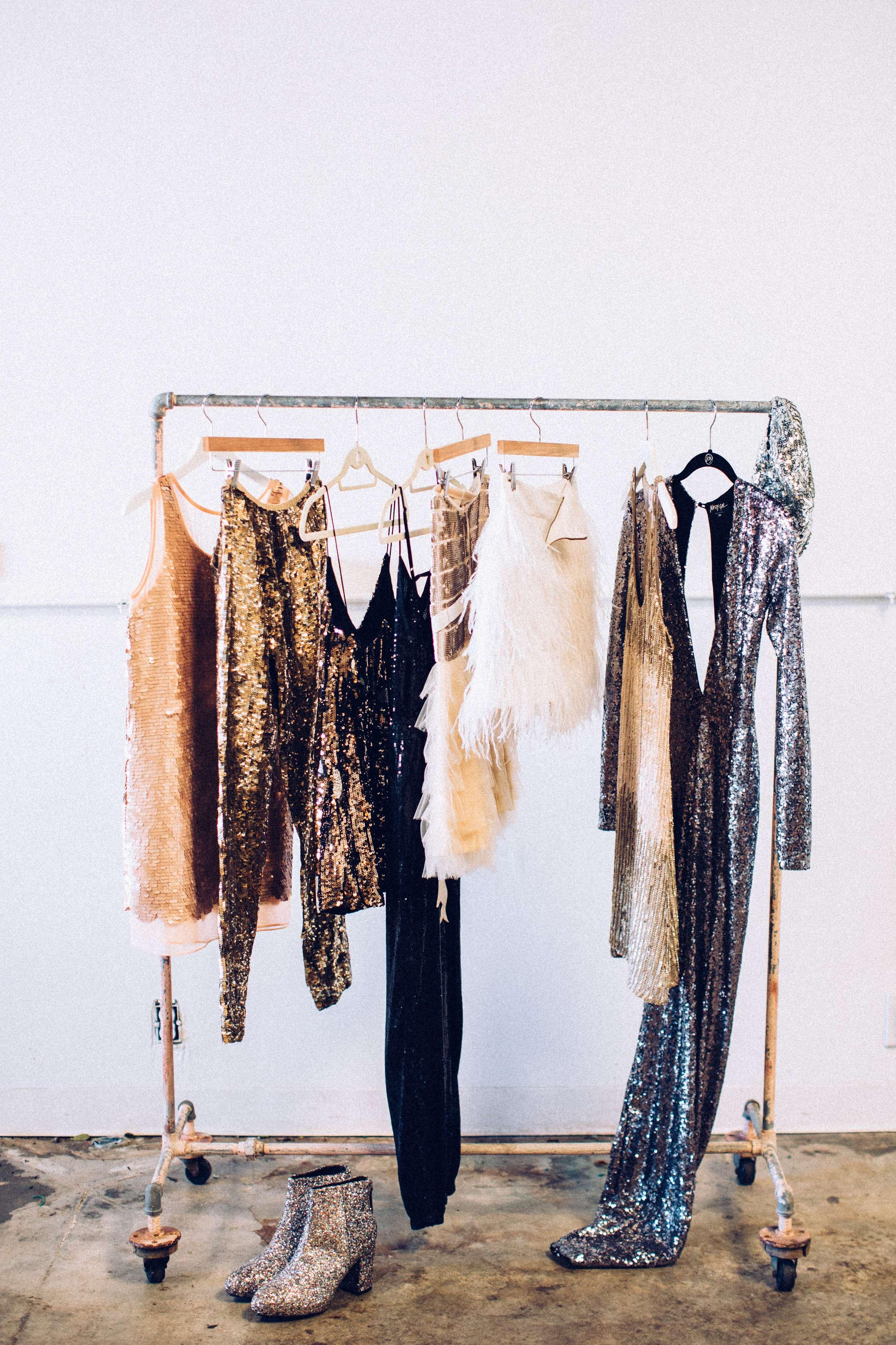 treo quần áo ánh kim bằng móc