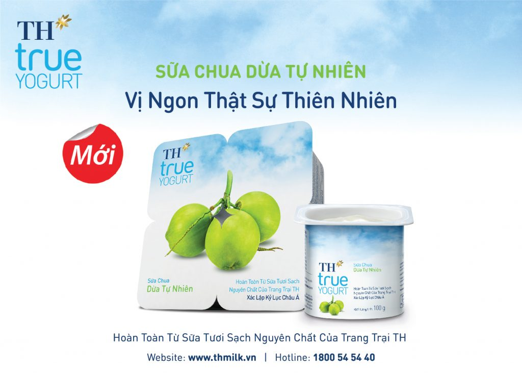 sữa chua dừa TH True Yogurt