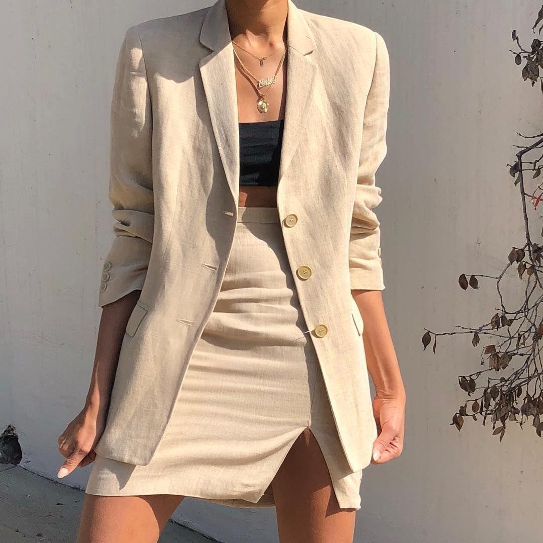 trang phục vải linen mùa Hè áo khoác 2