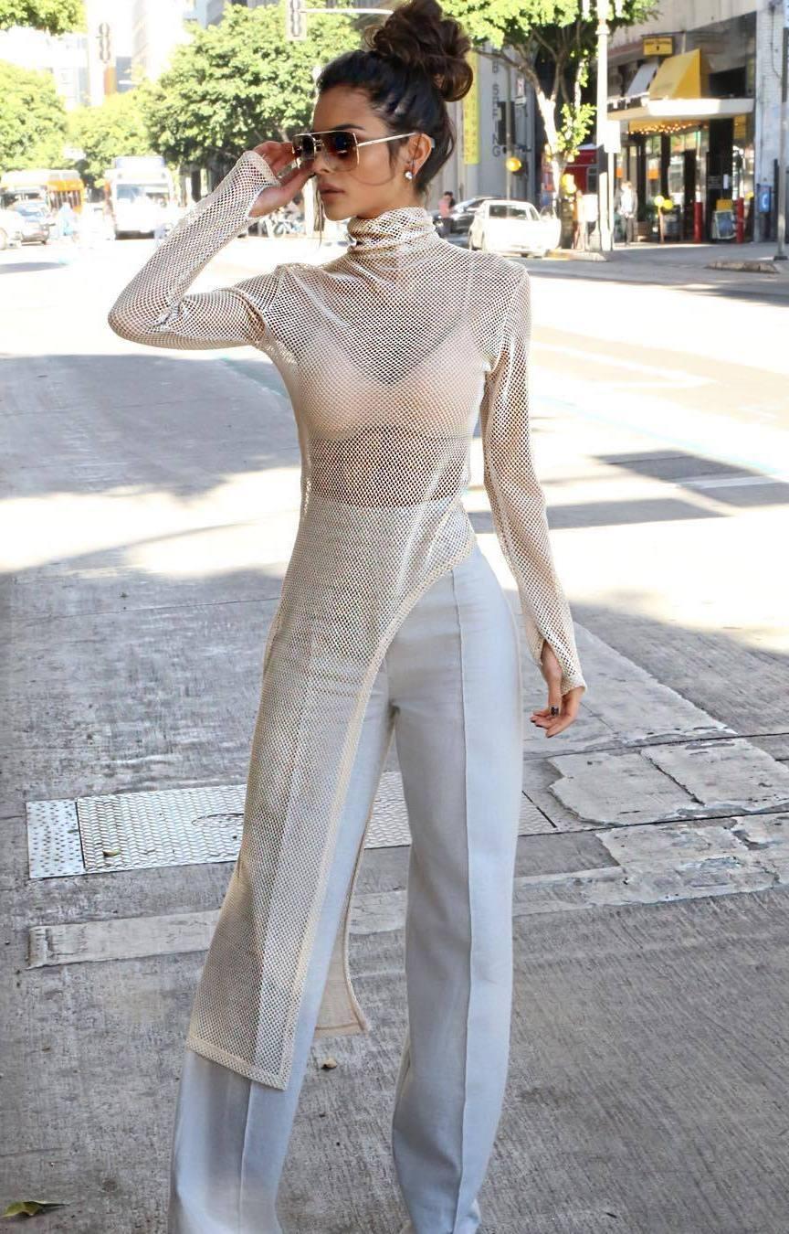 trang phục xuyên thấu thời trang mùa Hè 9