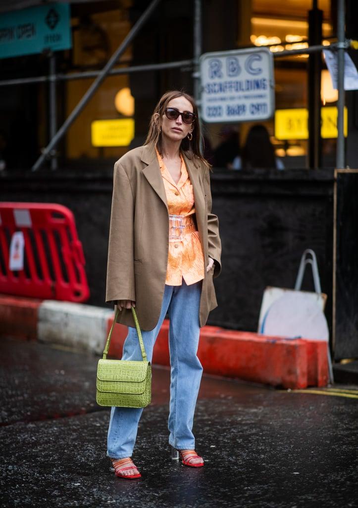 thời trang công sở nổi bật với blazer hai áo blazer khác màu