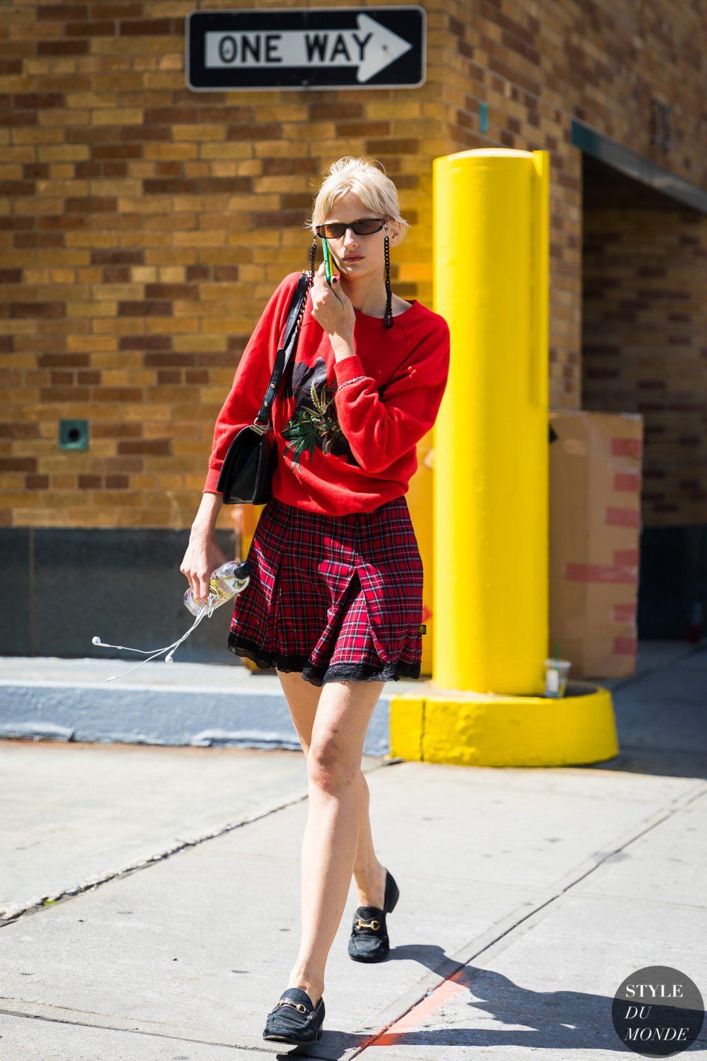 thời trang mùa hè chân váy ca rô