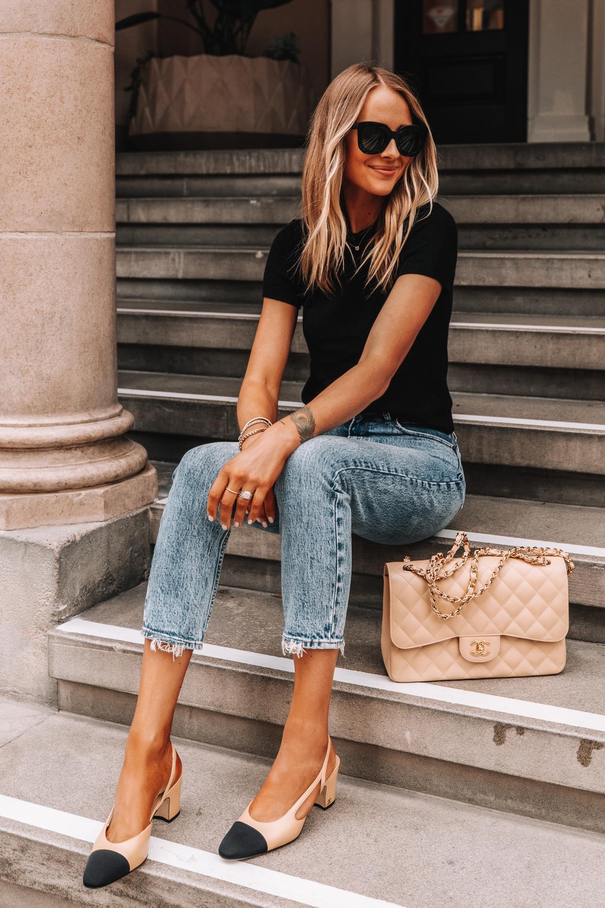 giày cao gót slingback Chanel phụ kiện thời trang tuổi 30