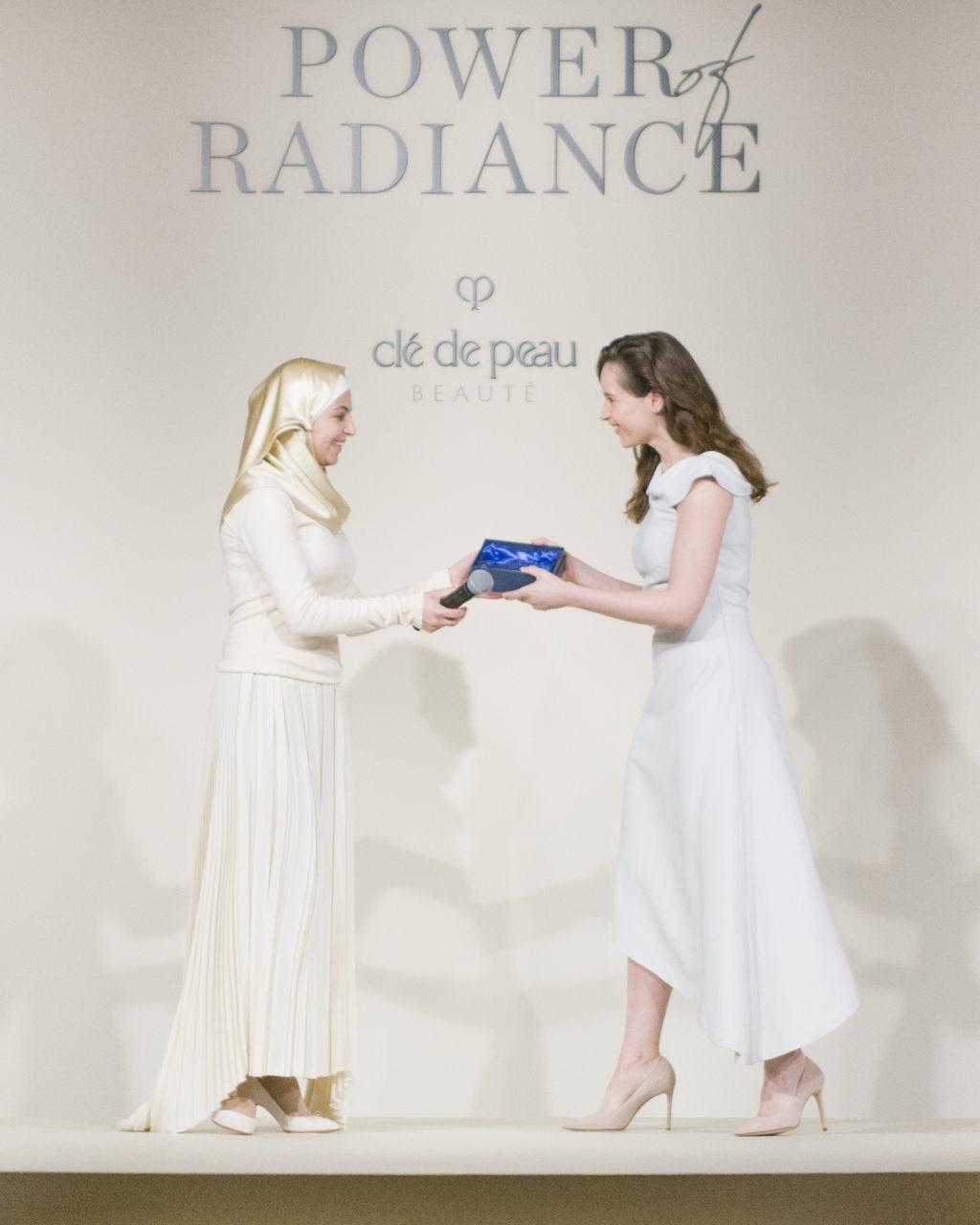 Felicity Jones, Clé de Peau Beauté Global Brand Ambassador, Muzoon Almellehan clé de peau beauté