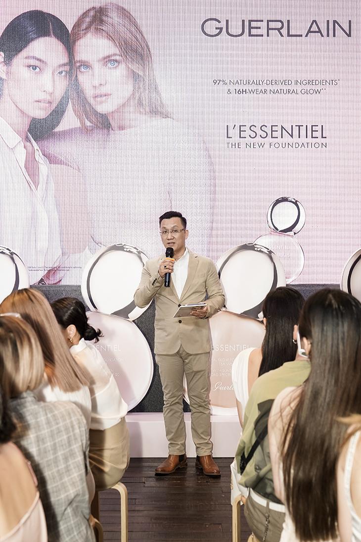 Guerlain-Mr Nguyen Ngoc Phong Dinh (Country Manager of Guerlain) phat bieu