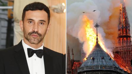 NTK Riccardo Tisci, Clare Waight Keller chia sẻ về vụ cháy lớn ở Nhà thờ Đức Bà Paris