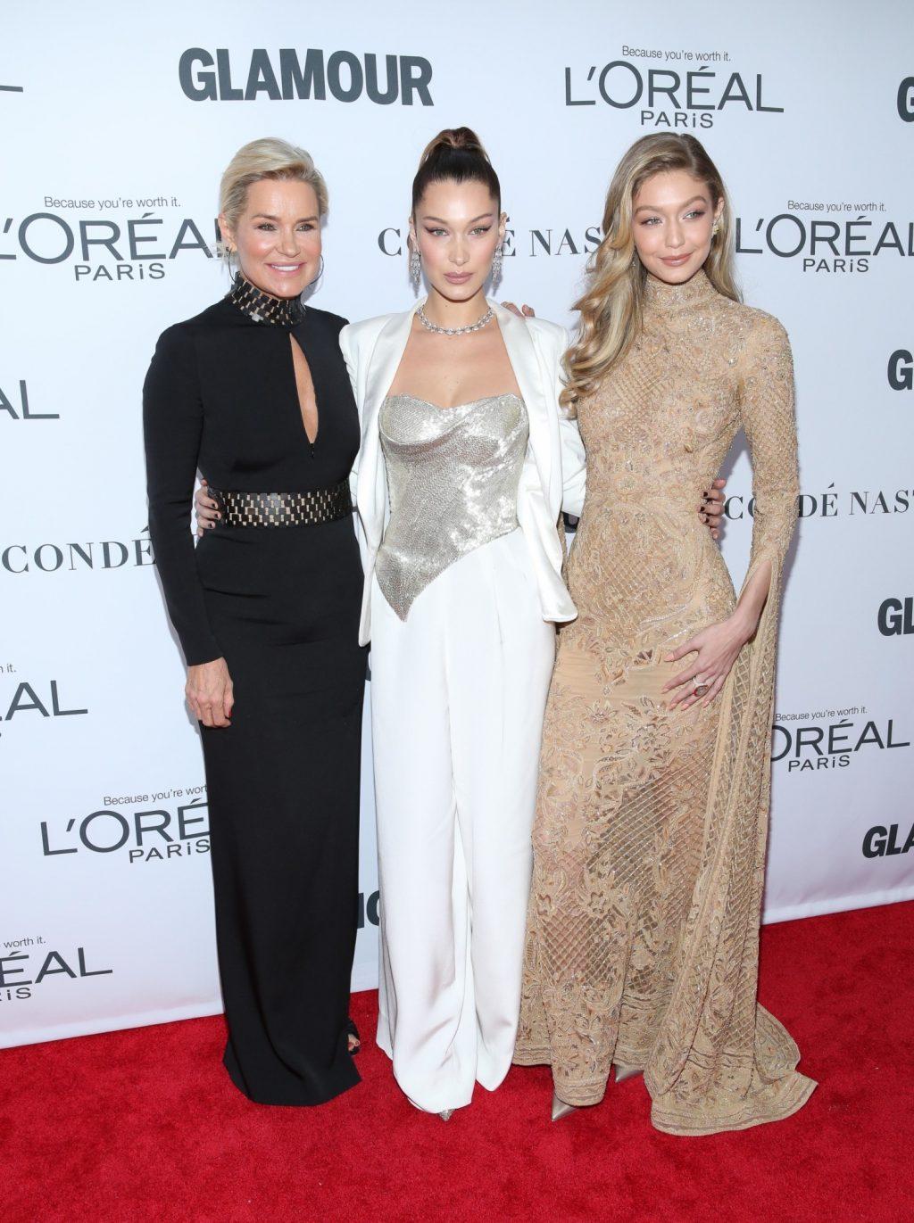 Yolanda Foster và Gigi, Bella Hadid trên thảm đỏ