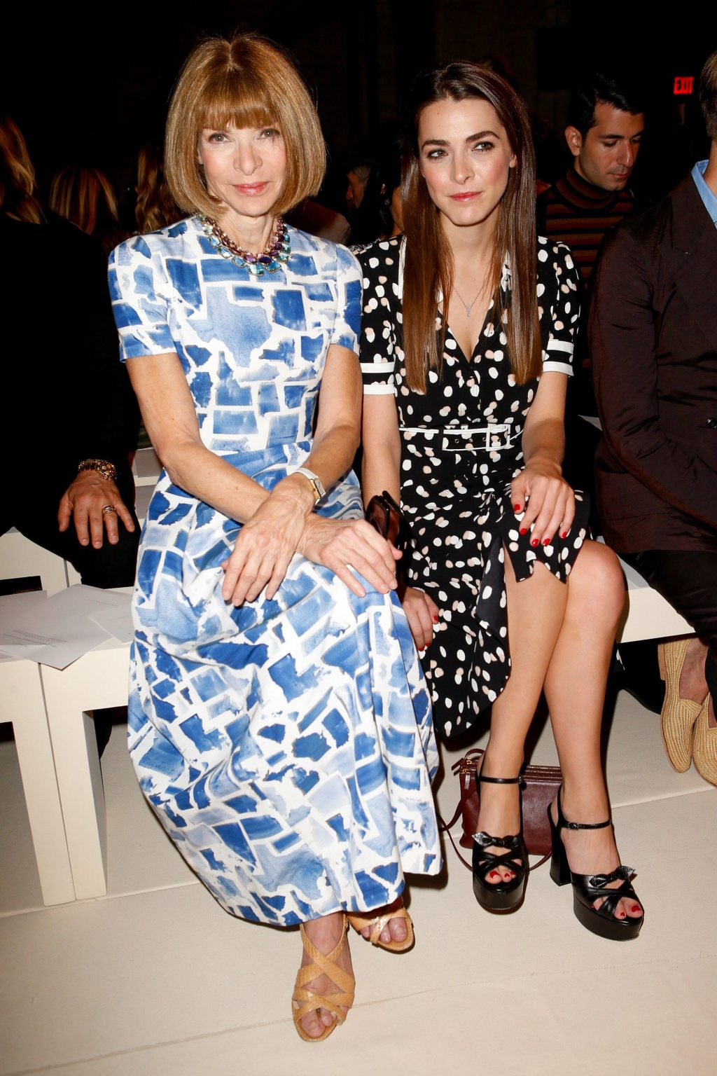 Anna Wintour và Bee Shaffer show thời trang
