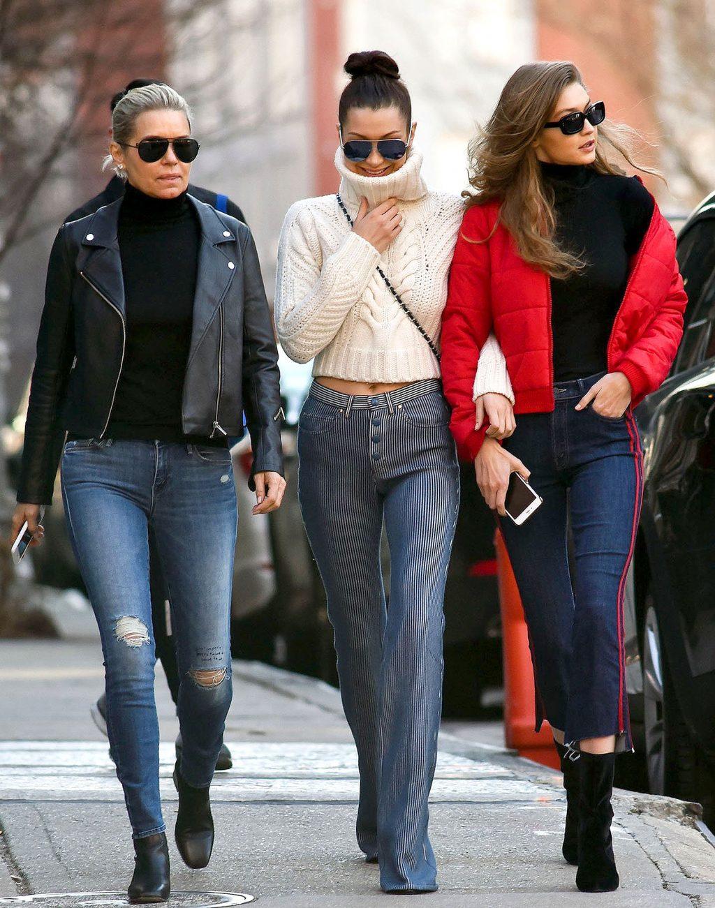 phong cách thời trang đường phố Yolanda Foster và Gigi, Bella Hadid