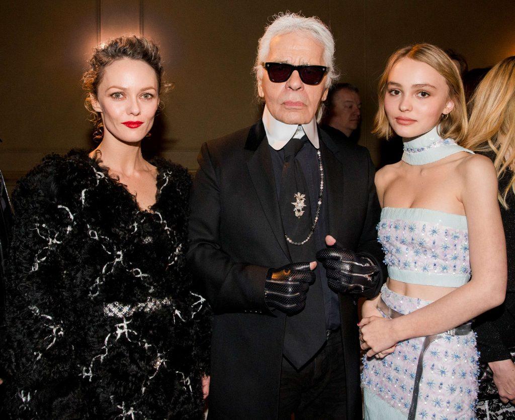 Vanessa Paradis, Lily-Rose Depp và Karl Lagerfeld