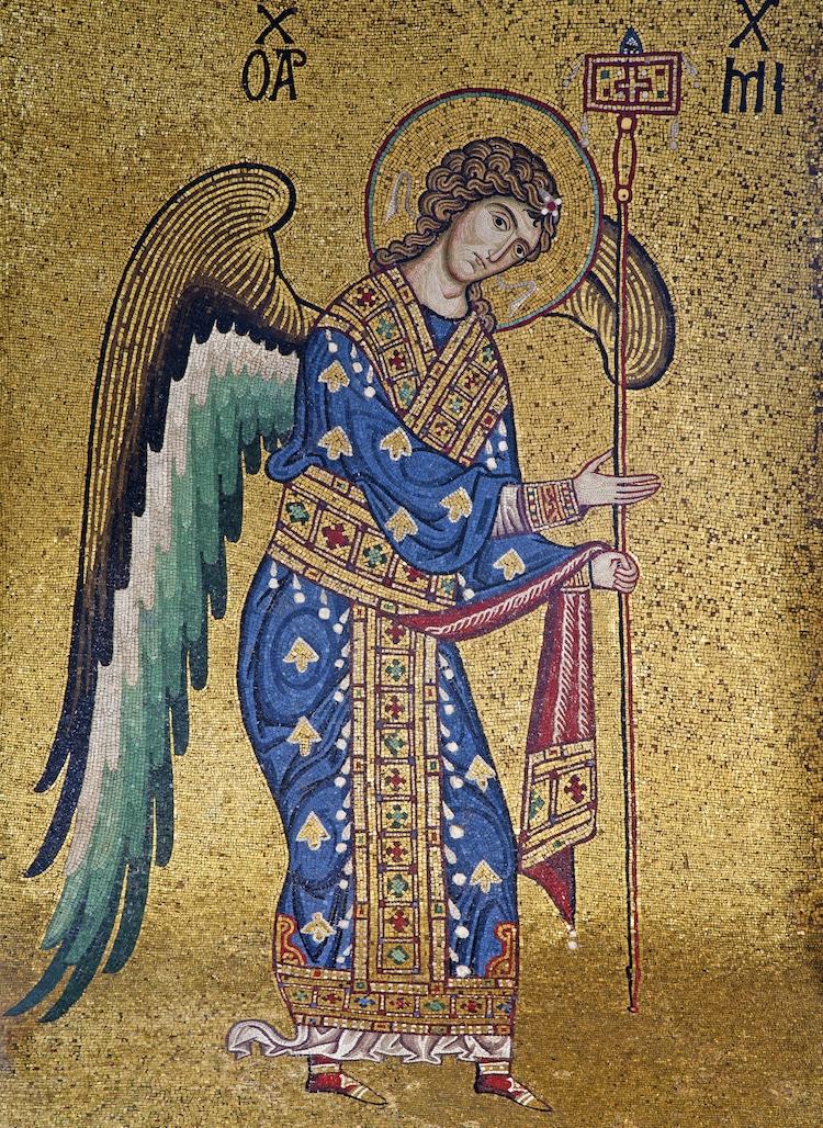 Bức tranh khảm đá vàng được làm từ thế kỷ 13 của nhà thờ Santa Maria dell' Ammiraglio