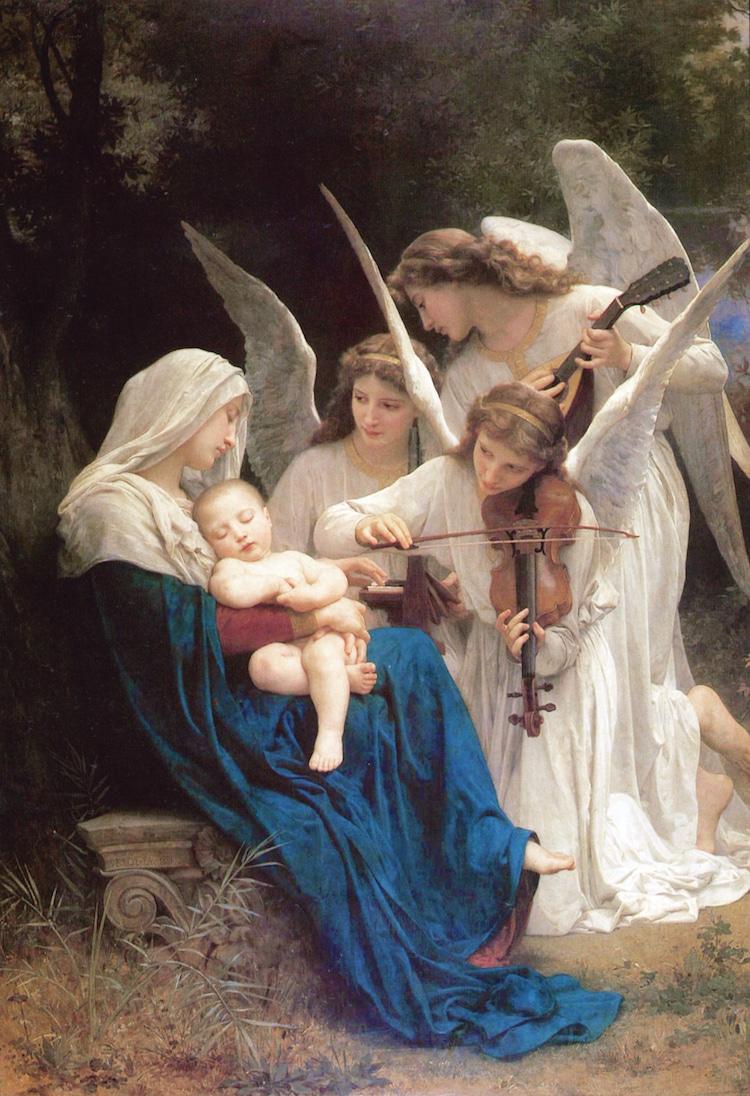 """hình ảnh thiên thần trong bức """"Song of the Angels"""""""