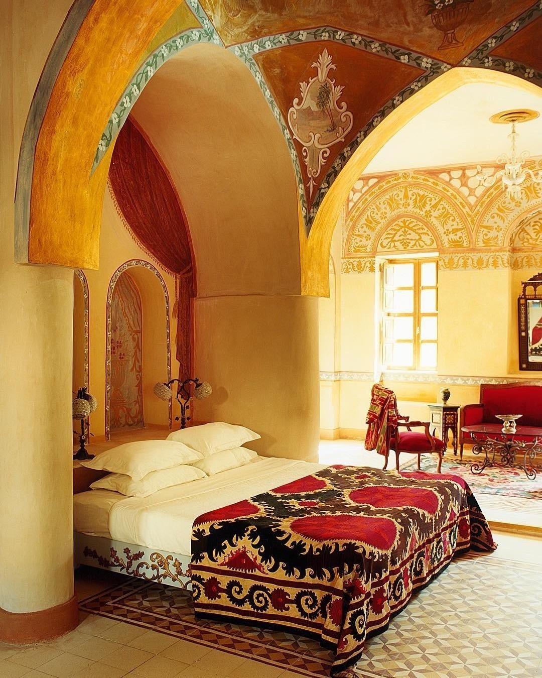 không gian xa hoa bên trong khách sạn moudira ai cập