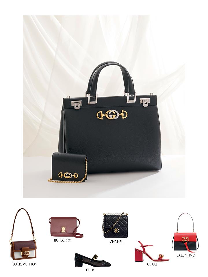 túi xách khóa logo Gucci màu đen