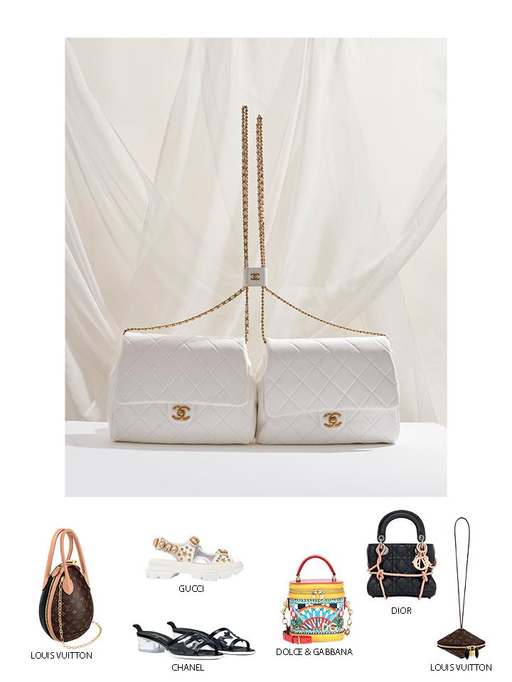 túi xách Chanel màu trắng