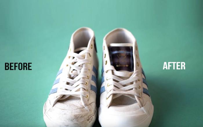 giày bẩn và giày sạch