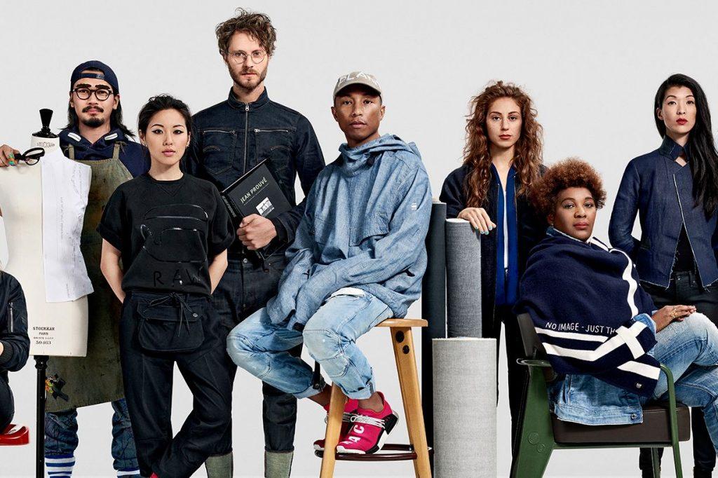 Pharrell Williams là giám đốc sáng tạo của thương hiệu thời trang bền vững G Star Raw