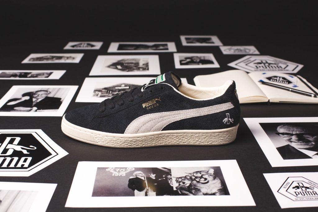 giày puma suede trắng đen