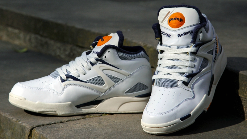 giày reebok pump màu trắng