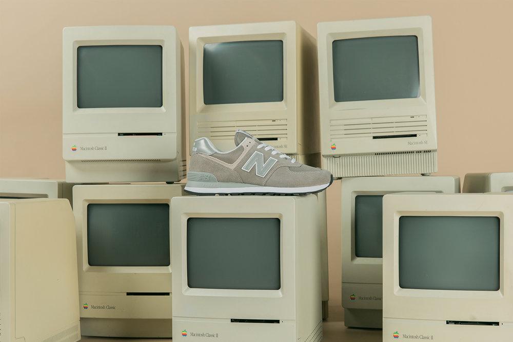 giày sneakers kinh điển new balance màu xám