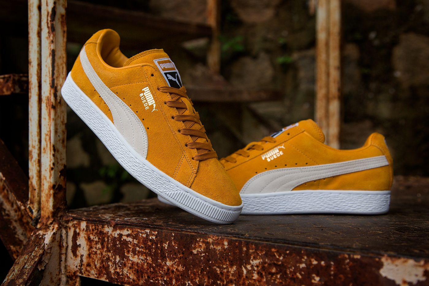 giày puma suede màu vàng