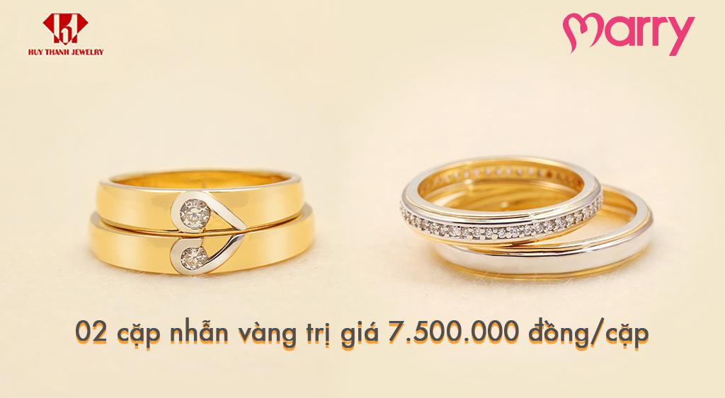 Cặp nhẫn cưới quà tặng