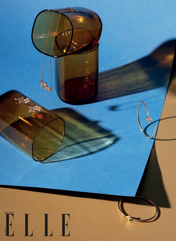 phụ kiện hoa tai vòng cổ Louis Vuitton
