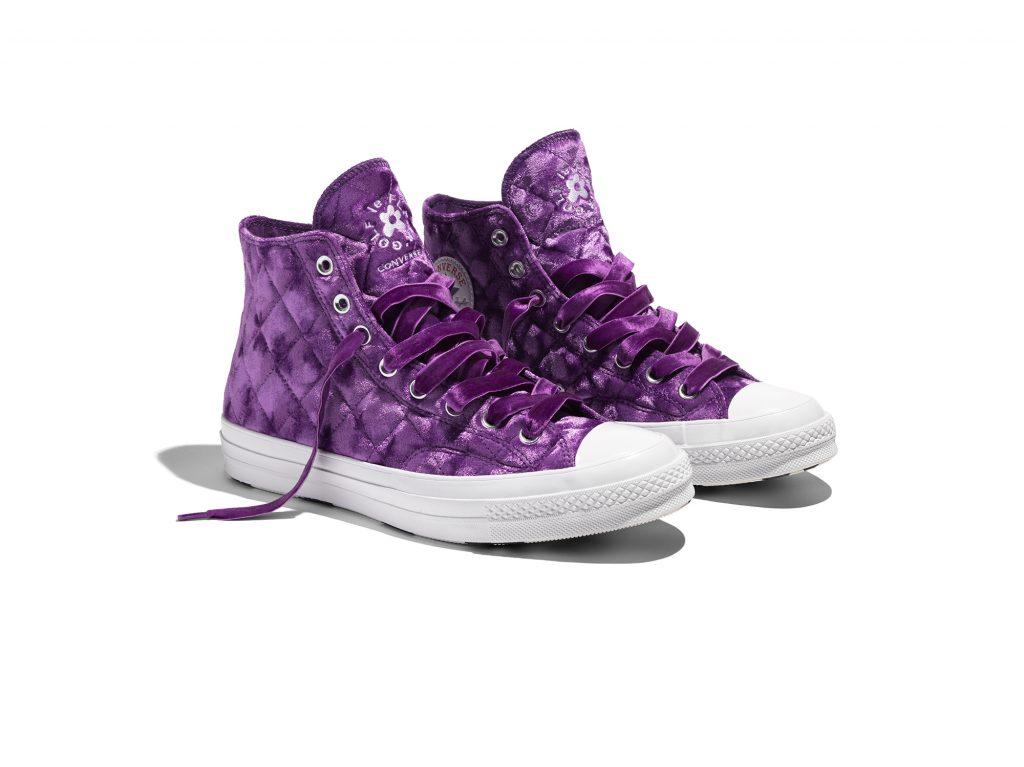 giày converse nhung màu tím golf le fleur velvet