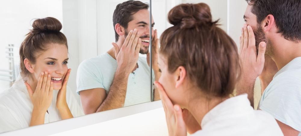 nam và nữ chăm sóc da