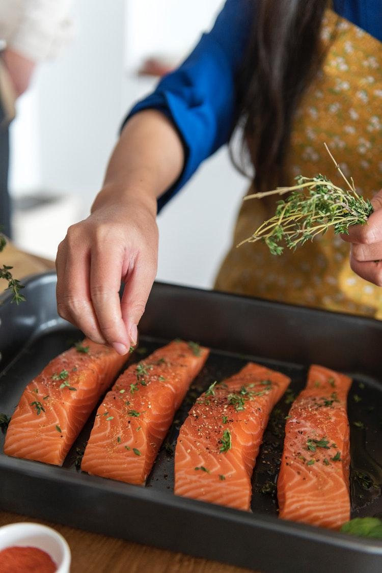 Ăn Cá hồi giúp tăng cân