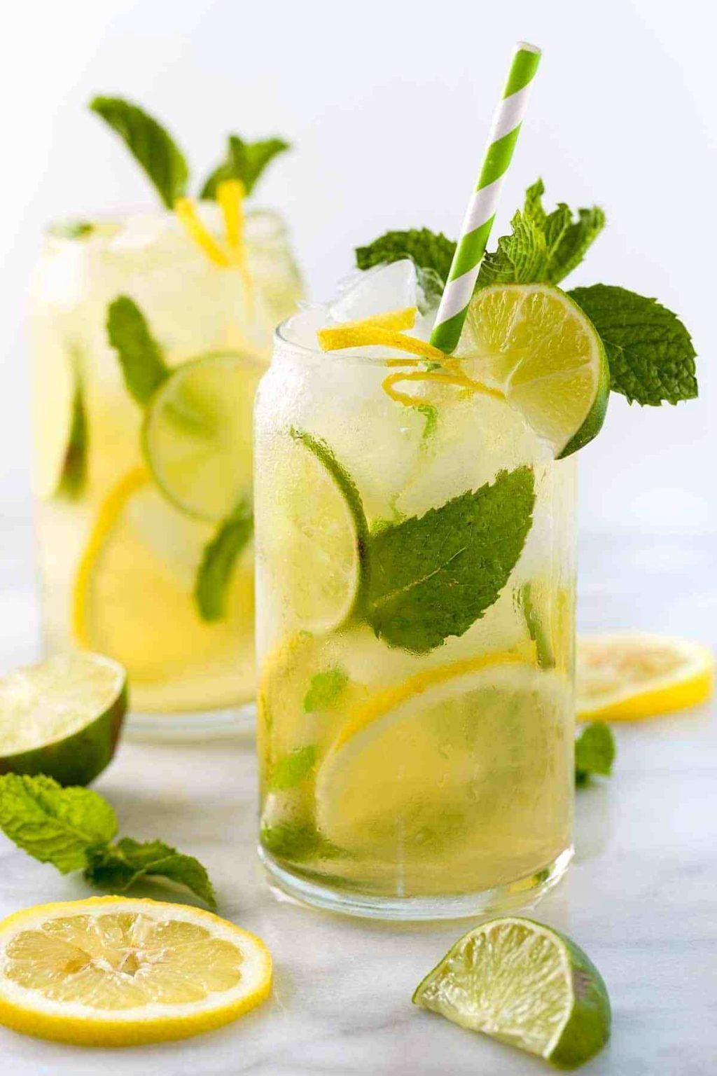 trái cây giải nhiệt - ly nước chanh