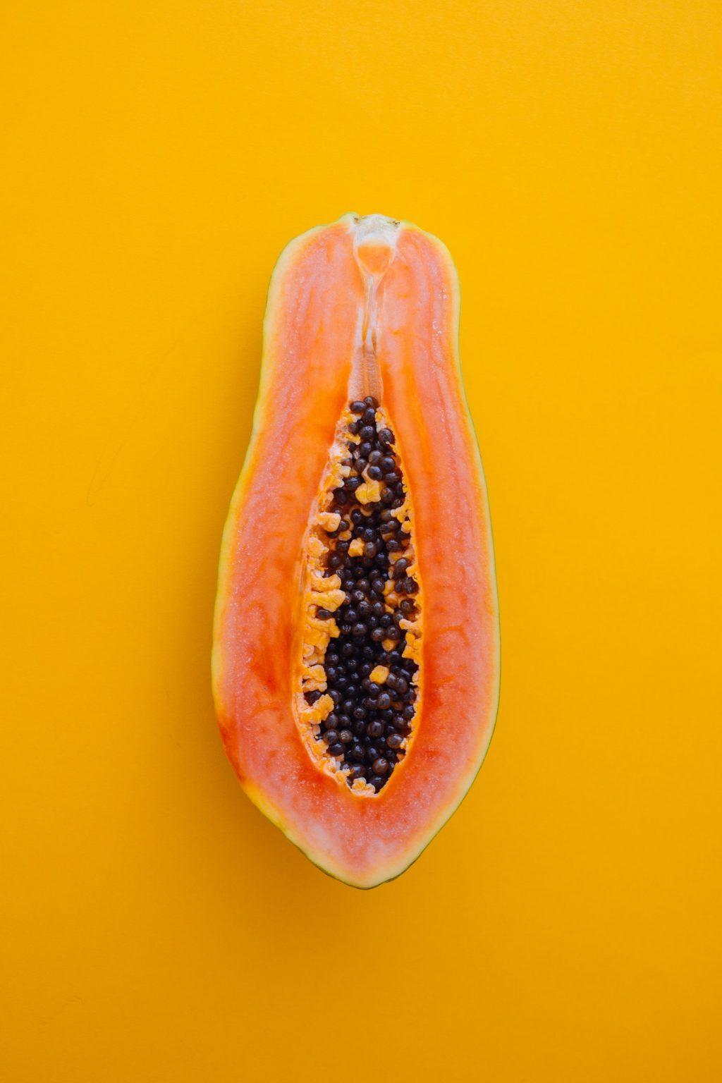 trái cây giải nhiệt - miếng đu đủ