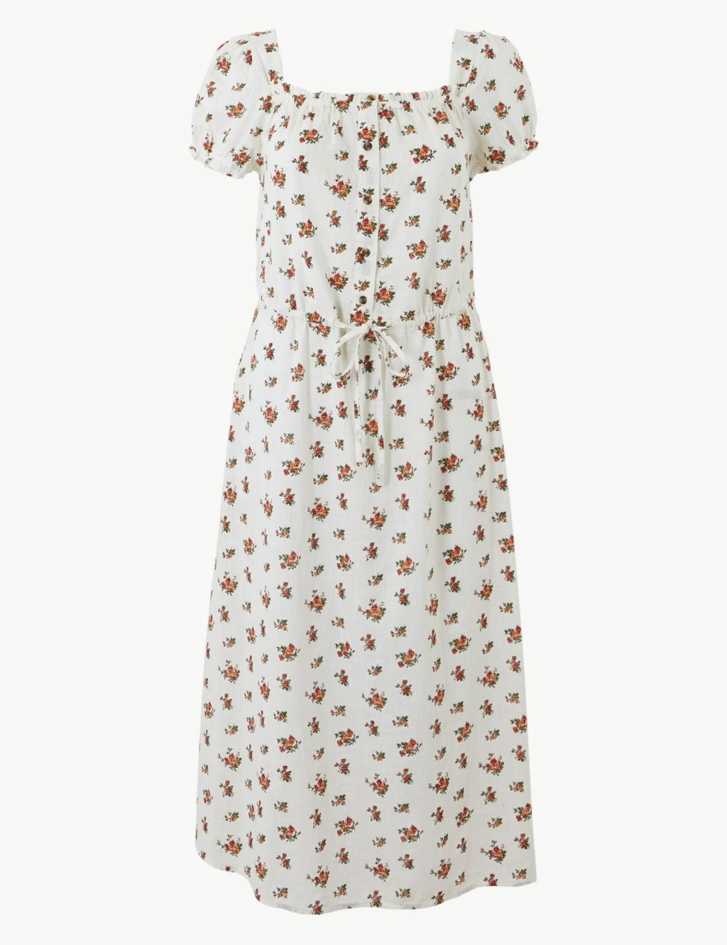 đầm hoa màu trắng Marks & Spencer