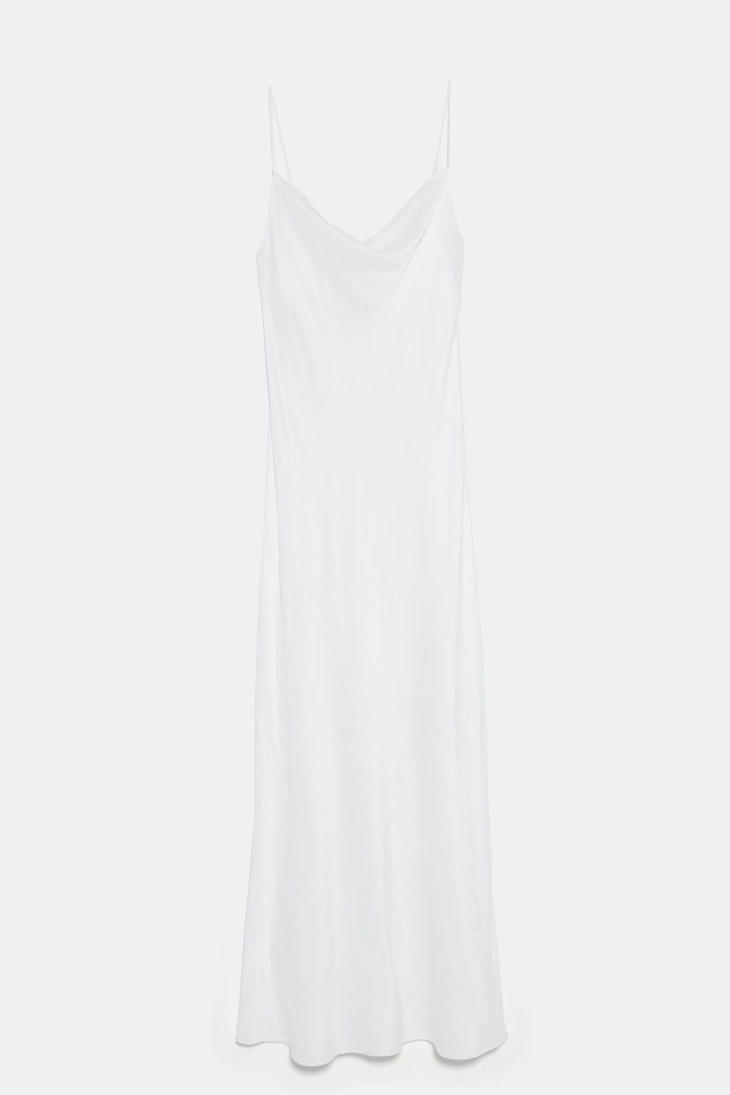 slip dress màu trắng zara